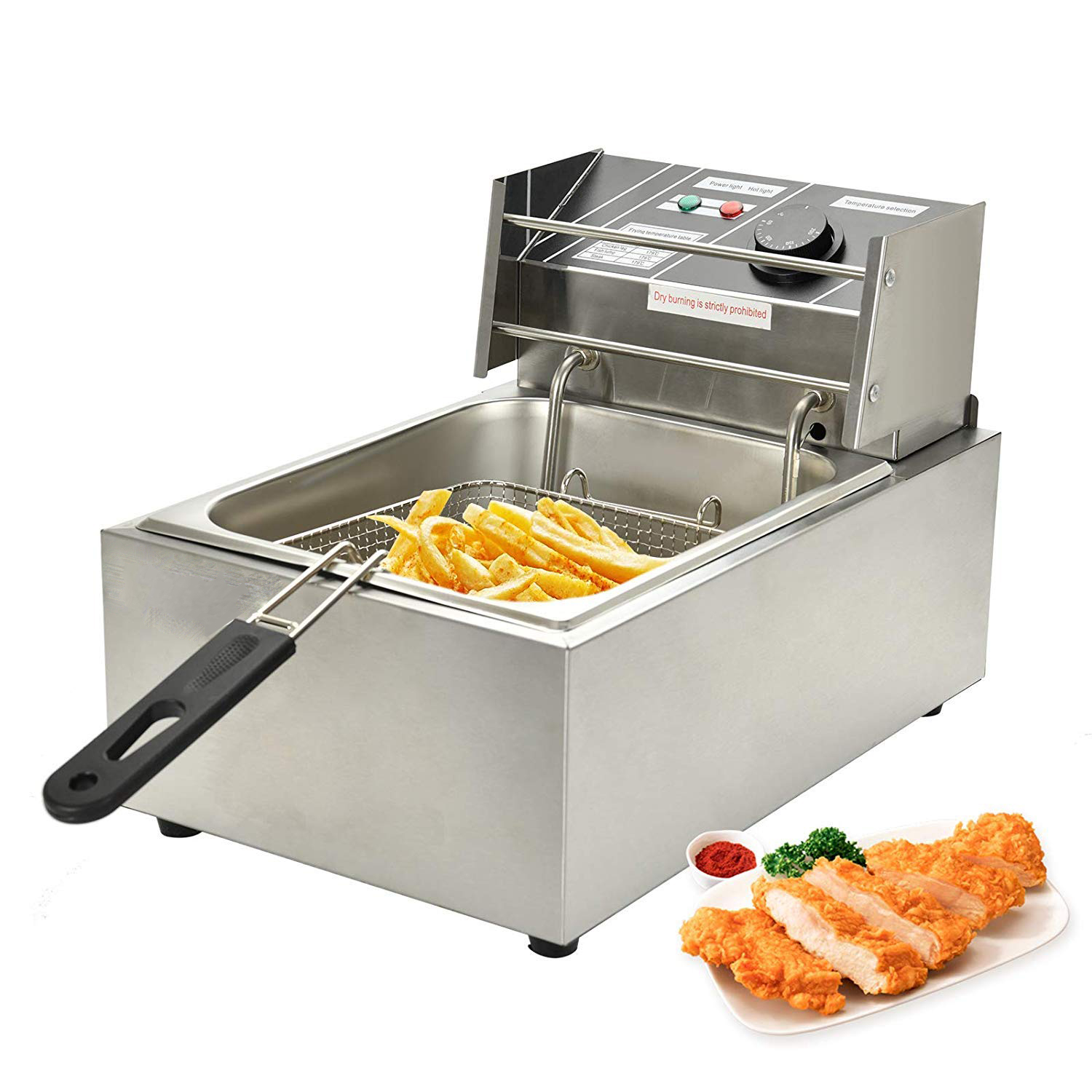Imported - Get 30% OFF on Electric Single Deep Fryer, Fully Stainless Steel  Body
