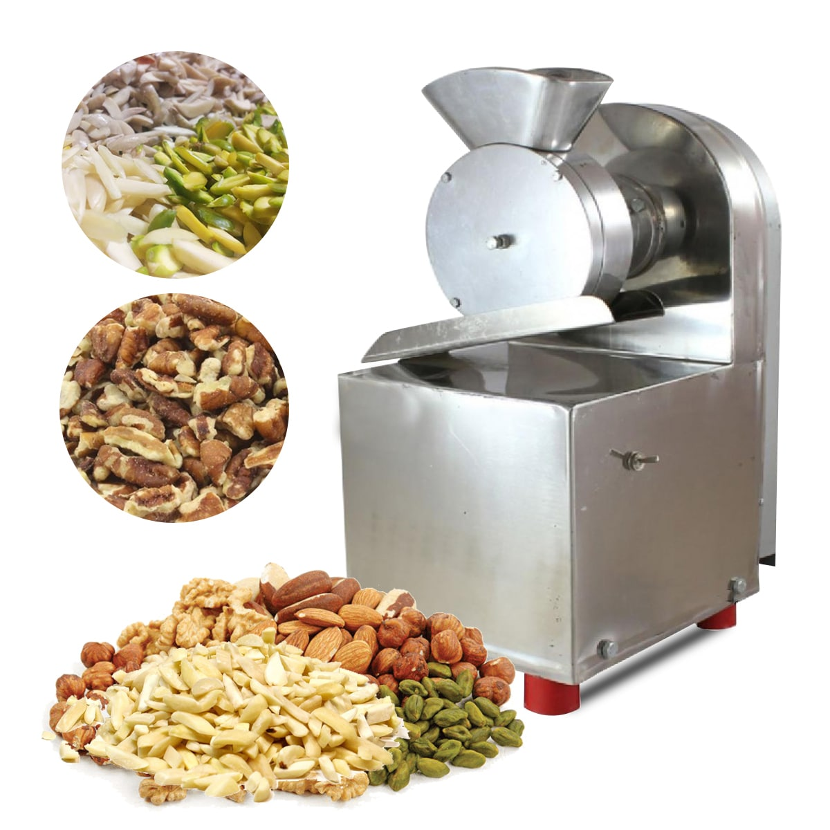 Made in Punjab - Heavy Duty Dry Fruit Cutting Machine with 0.25HP Motor