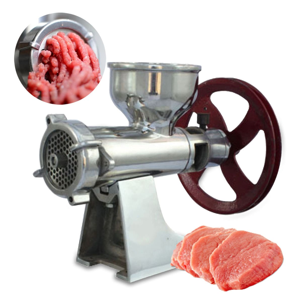 Made in Punjab - Heavy Duty Stainless Steel Power Meat Mincer without Motor